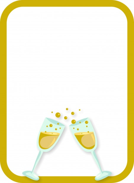 Digital Poster Champagne Border Free Stock Photo - Public Domain Pictures