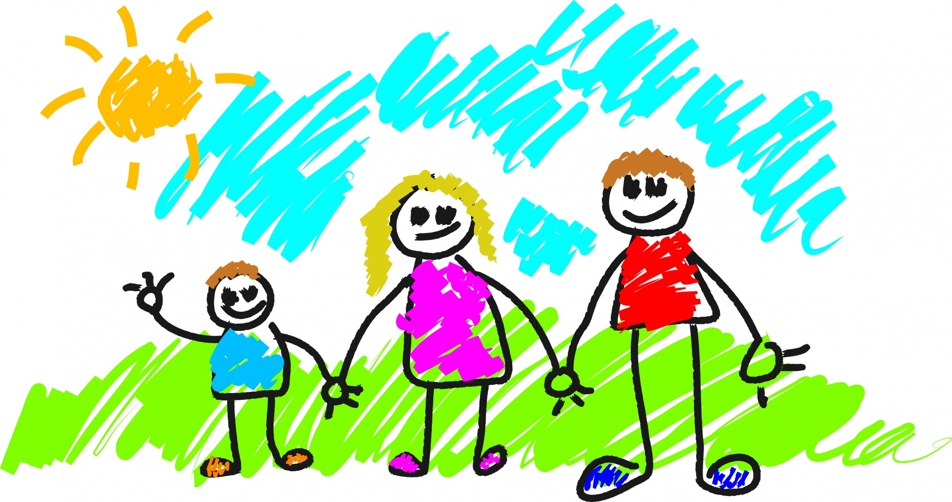 Happy Family Life Clip Art Stick Family Free Stock Photo Public Domain Pictures