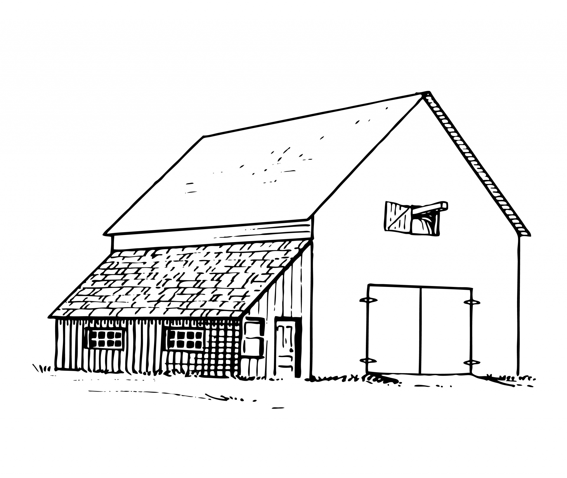 Old Barn Illustration Free Stock Photo Public Domain Pictures
