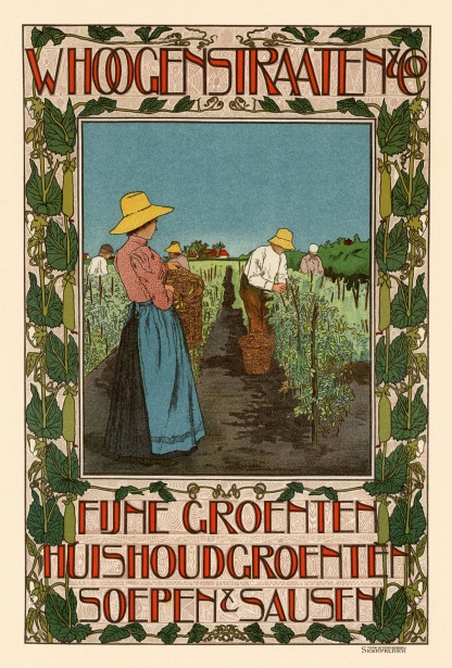 Deco Poster French Vintage Poster Vegetable Ad Free Stock Photo
