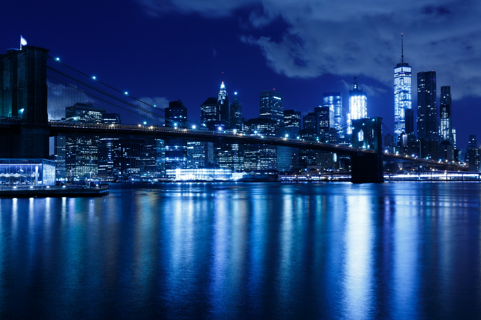 Bild New York Skyline New York Night Skyline Free Stock Photo Public Domain