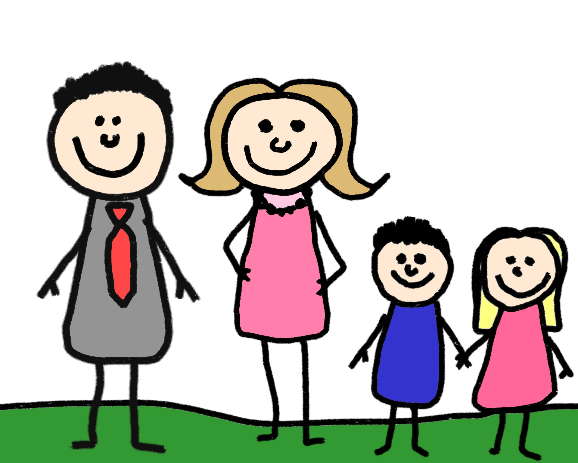 Happy Family Life Clip Art Stick Figure Family Free Stock Photo Public Domain Pictures