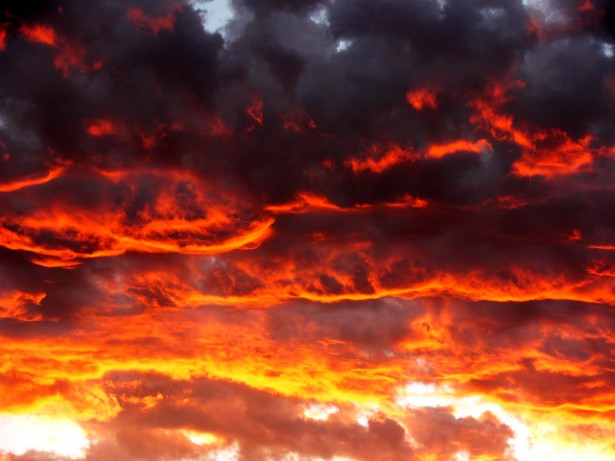 Cape Times Red Clouds At Sunset Free Stock Photo - Public Domain Pictures
