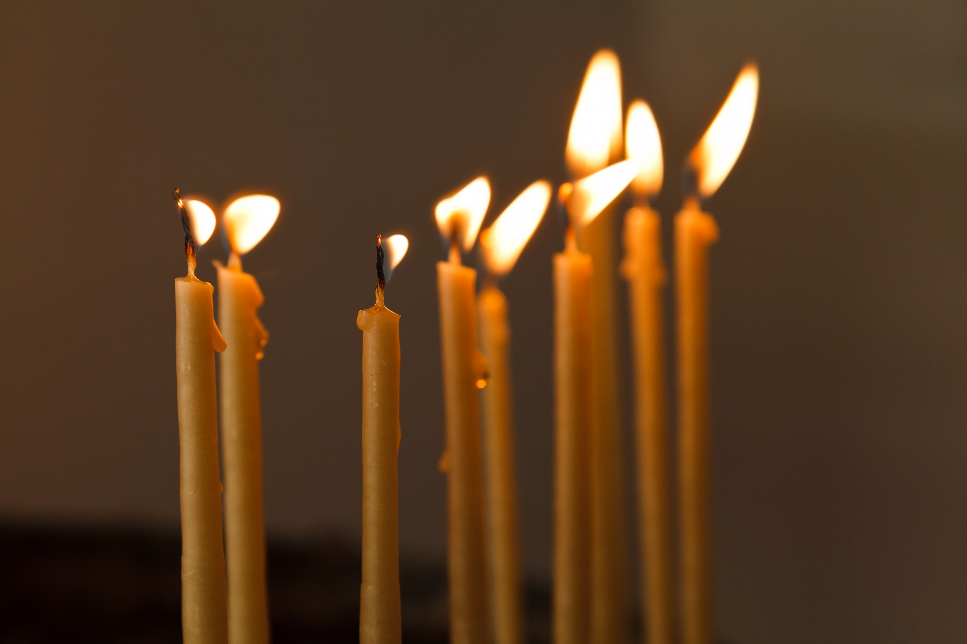 Church Candles Thin Candles In Church Free Stock Photo Public Domain