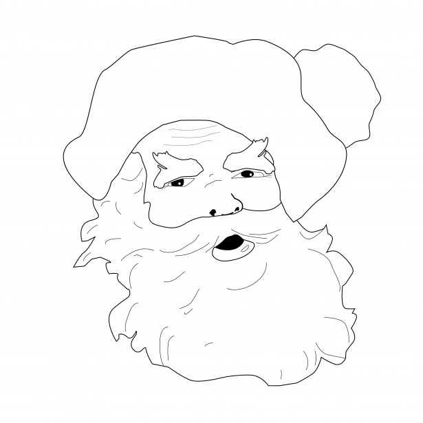 Book Services Ltd Santa Claus Coloring Page Free Stock Photo Public Domain