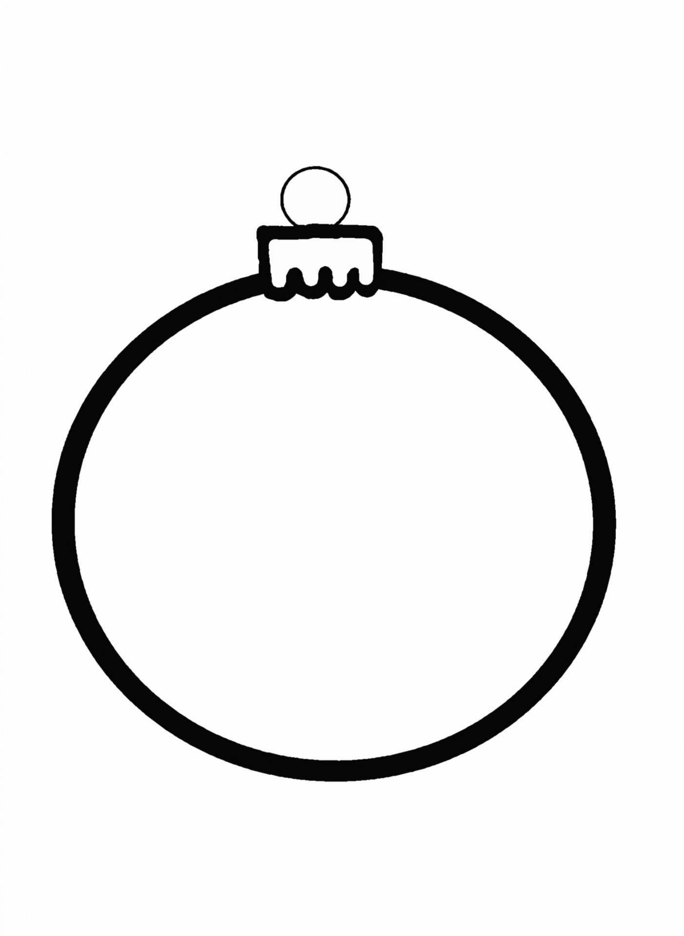 Christmas Ornament Clip Art Black And White Christmas Ornament Outline Search Results Calendar 2015