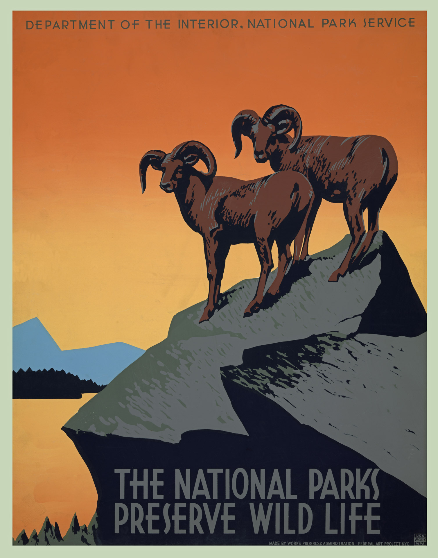 Poster Photos Vintage National Park Poster Free Stock Photo Public