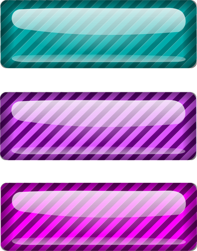 Decorative Mirror Rectangle Three Stripped Blue And Purple Rectangles Vector Drawing