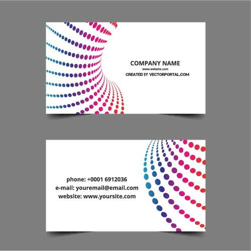 Business card layout in vector format Public domain vectors