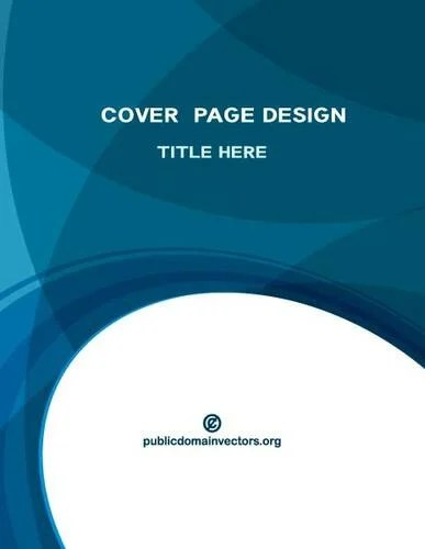 Cover page blue background Public domain vectors