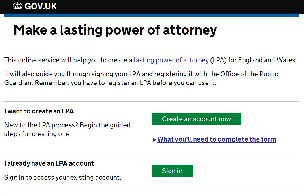 Improving the Lasting Power of Attorney online service - Office of