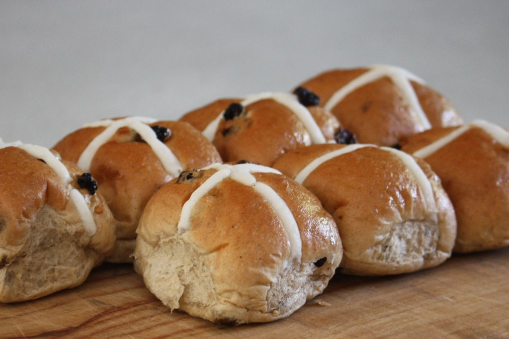 Hot cross buns. Photo: Jan Smith; flickr.com/26085795@N02/