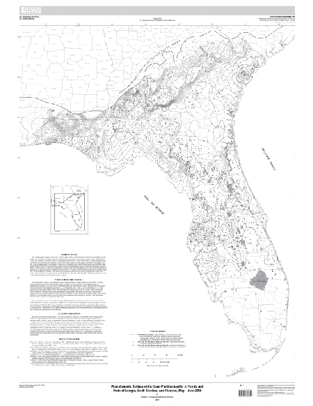 USGS Scientific Investigations Map Potentiometric Surface of the