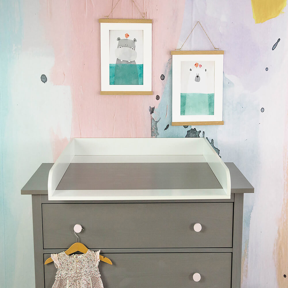 Changing Table Top For Ikea Hemnes White Puckdaddy