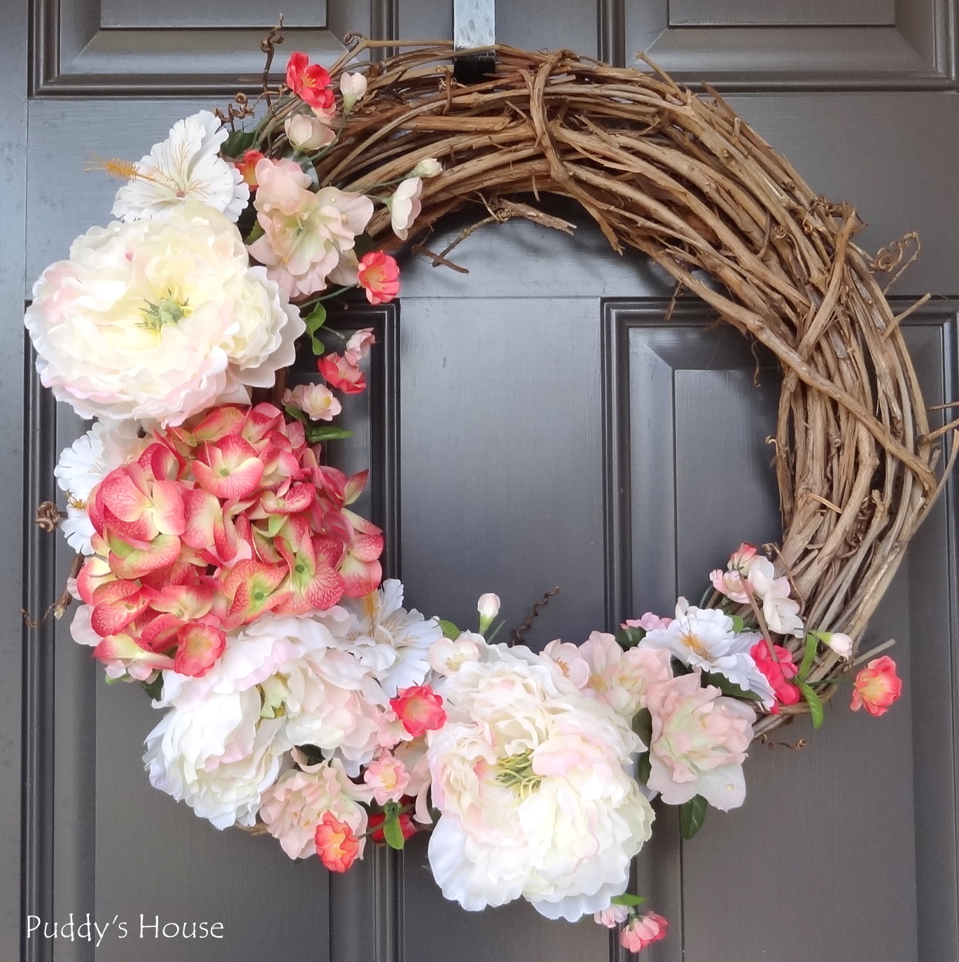 Diy Wreath Supplies 2014 Diy Spring Wreath Puddy 39s House