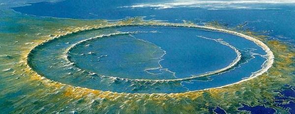 Crater de Chicxulub Mexico
