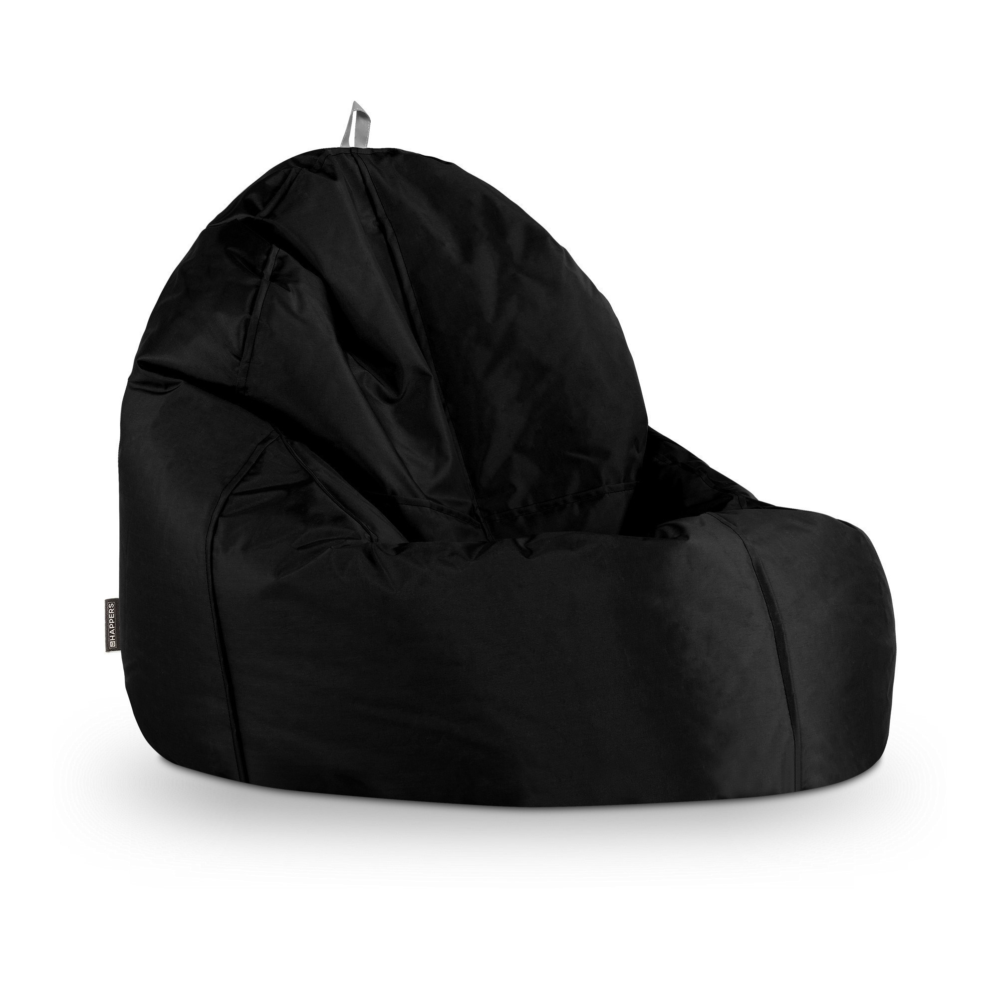 Puff Sillon Puff Lounge Naylim Impermeable Negro En Puffdepera