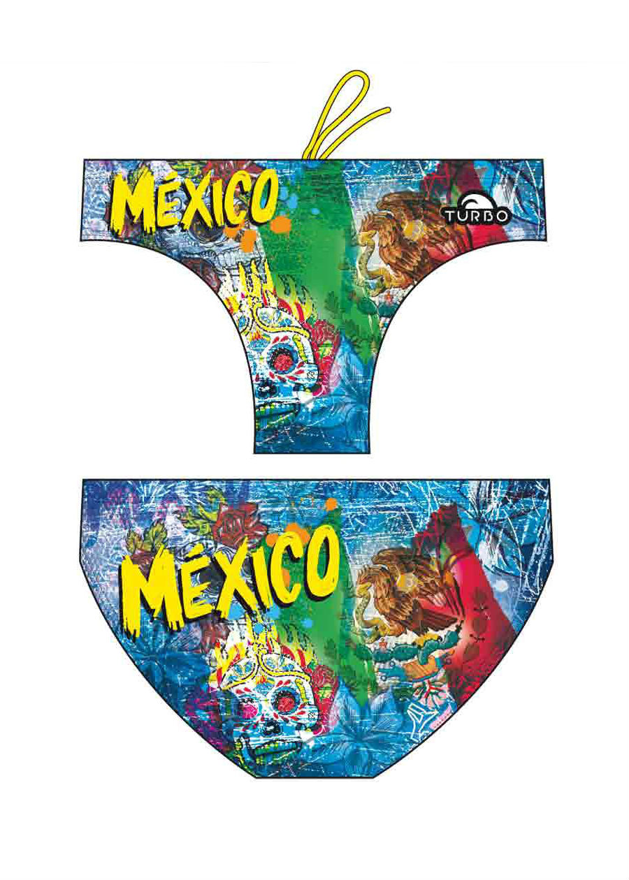 Costumi Piscina Turbo Turbo Mexico Flag