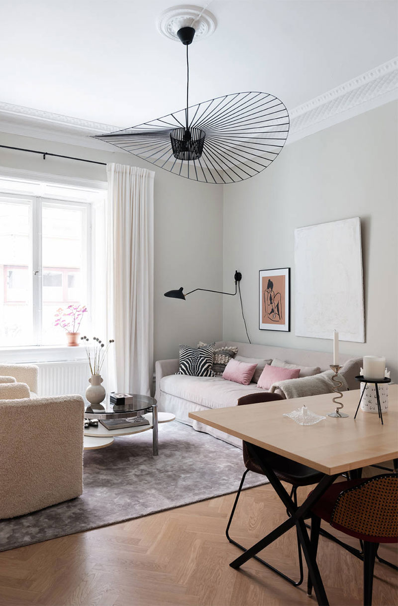 Lbpfqy Rdfhnbhs Small Apartment With Delicate Feminine Touches In Stockholm 34