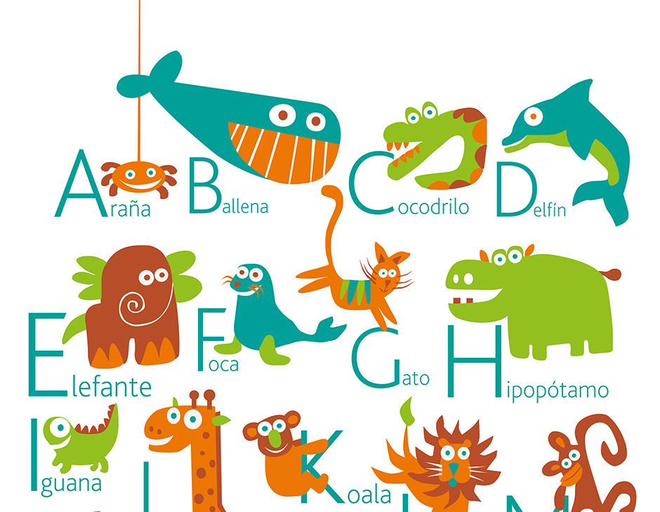 Spanish Alphabet Poster PUKACA - alphabet in spanish