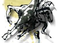 モンゴルの馬