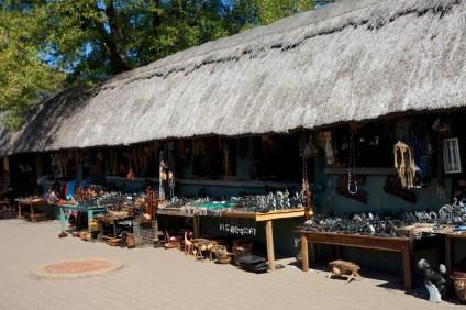 Souvenir shop in Victoria Falls