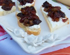 dried fruit compote which we enjoyed on bread with a smear of ricotta