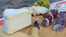 charcuterie along with St. André triple come soft-ripened cheese