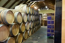 Wine barrels at Mullineux Family Wines