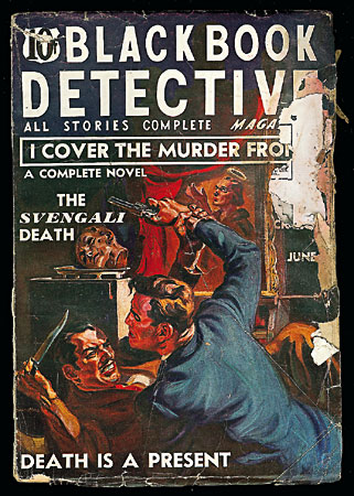 Black Book Detective pulp cover, June 1937