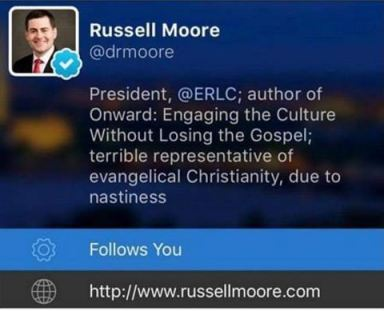 news donald trump russell moore truly terrible representative evangelicals