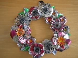 17. A can wreath.