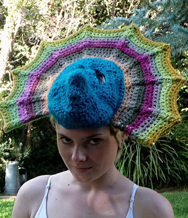 Crochet Peacock Hat