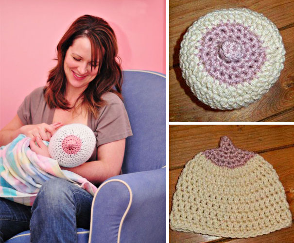 Baby Boobie Nursing Hat