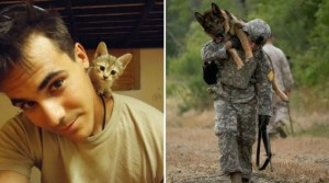 43 Combat Ready Soldiers Who Look Almost Inseparable From Their Adorable Pets