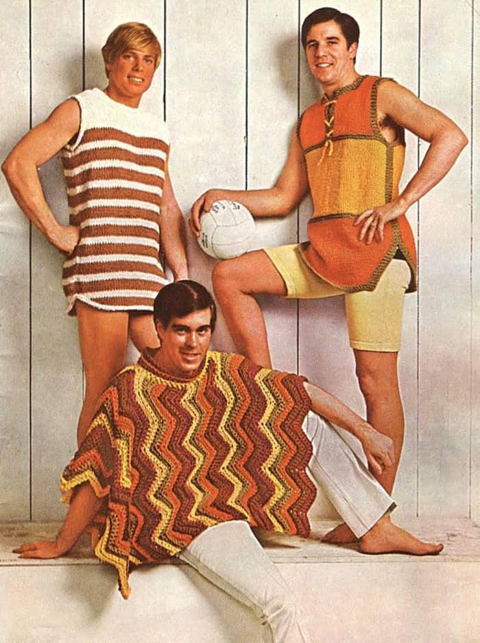 мужская мода, пончо, свитер