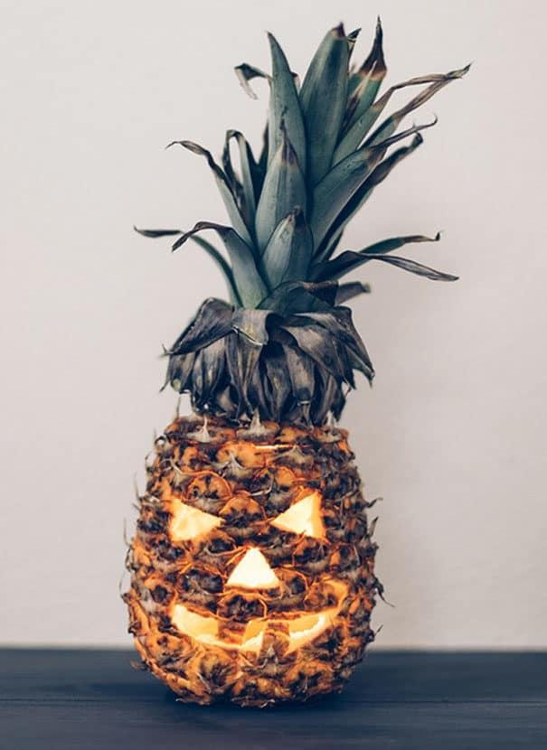57fb3fcf29fbe - Forget Pumpkins, Pineapple Jack O' Lanterns Are The Latest Hallowe'en Trend