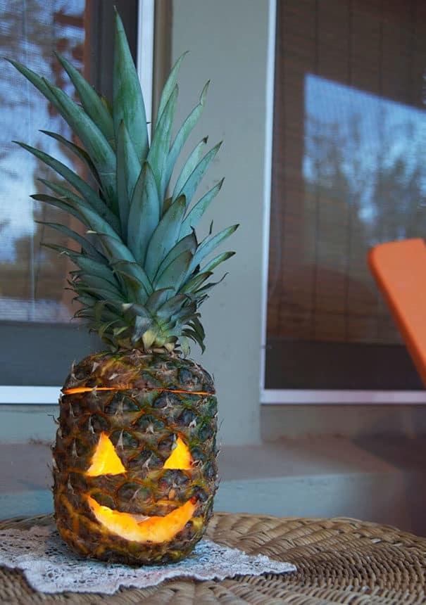 57fb3fd085695 - Forget Pumpkins, Pineapple Jack O' Lanterns Are The Latest Hallowe'en Trend