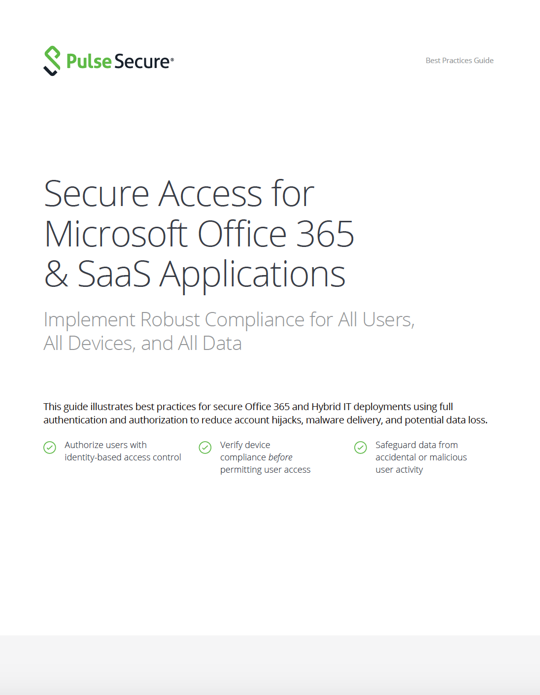 Office 365 Microsoft Access Secure Access For Microsoft Office 365 Saas Applications Pulse