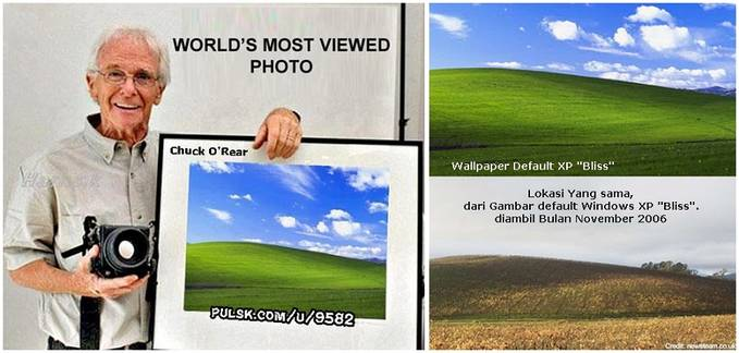 Wallpaper Terbaik Untuk Windows Xp Kisah Fotografer Legendaris dari Lokasi Wallpaper Windows XP Bliss 679x324