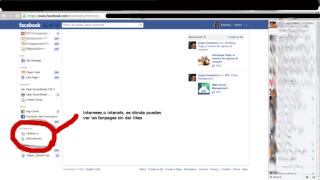 intereses en Facebook
