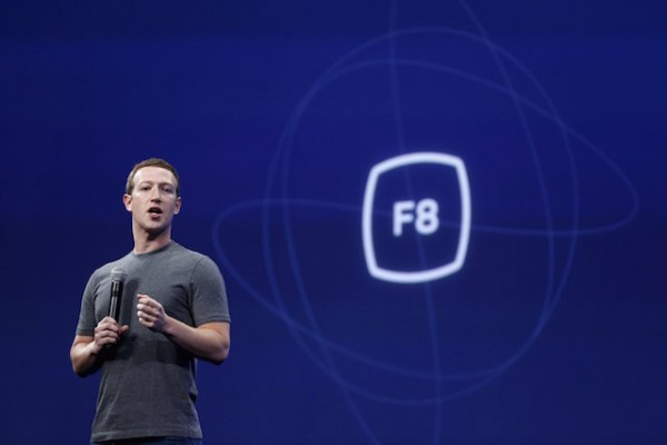 Facebook CEO Mark Zuckerberg speaks during his keynote address at Facebook F8 in San Francisco