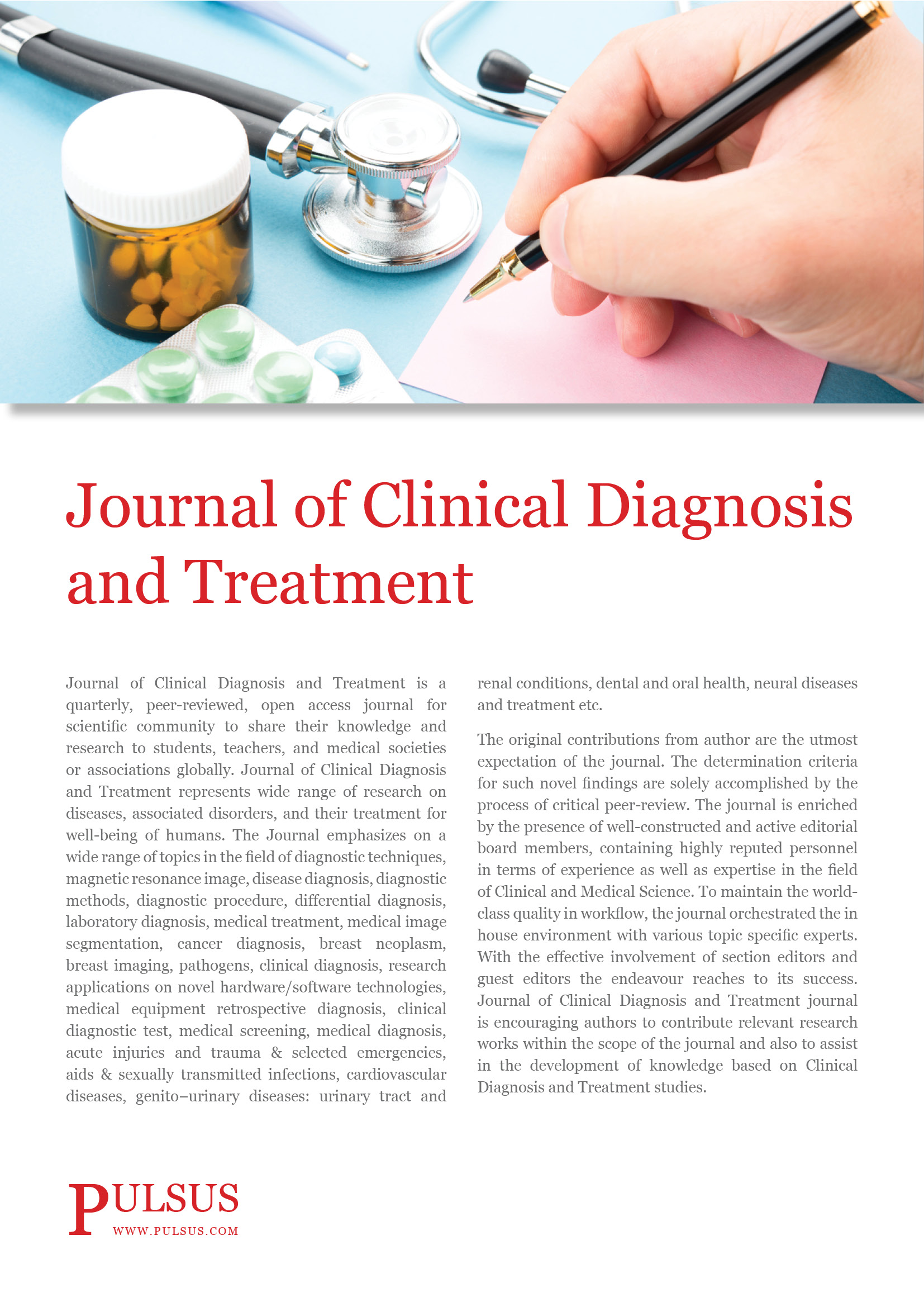 Journal Of Clinical Journal Of Clinical Diagnosis And Treatment Open Access Journals