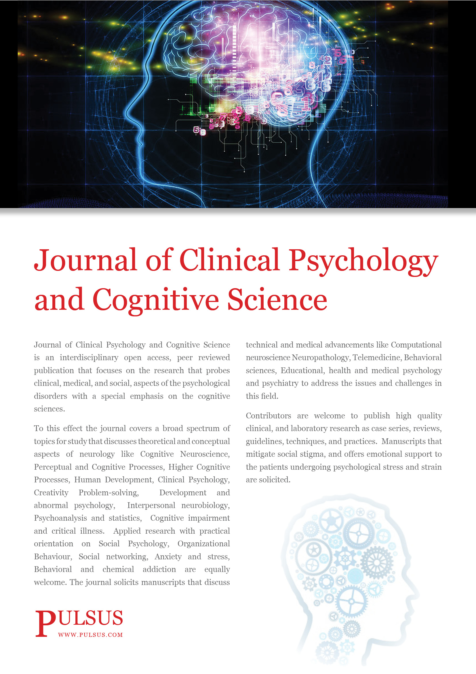 Journal Of Clinical Journal Of Clinical Psychology Cognitive Science Open Access