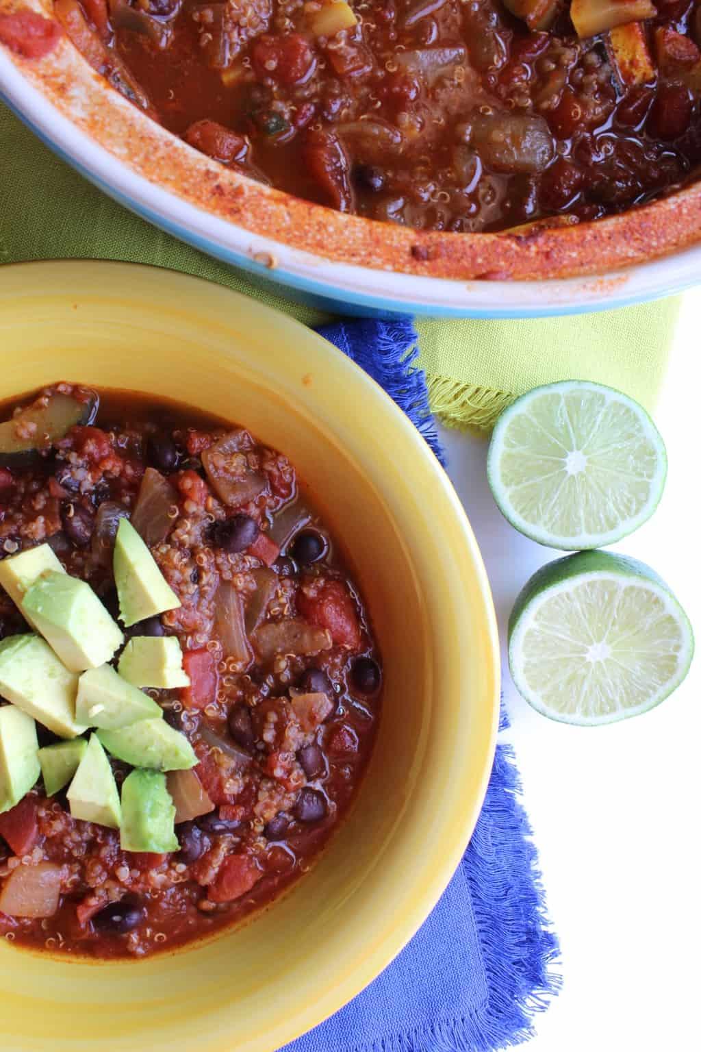 One Pot Quinoa Veggie Chili - pumpkinandpeanutbutter