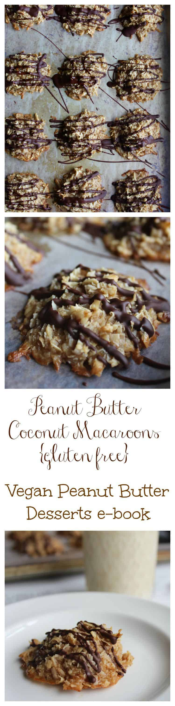 Peanut Butter Coconut Macaroons {gluten free} // Vegan Peanut Butter ...