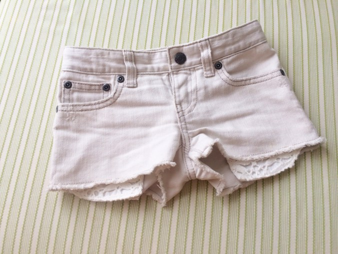 kids denim cut off shorts