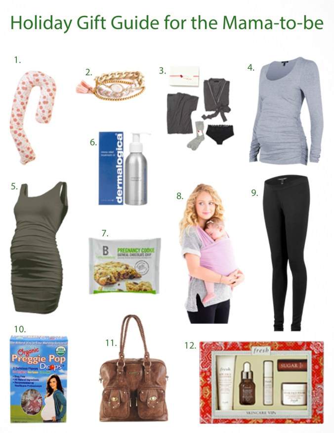 holiday gift guide for the mama to be