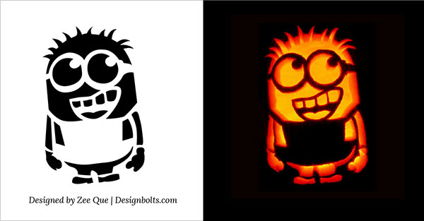 Pumpkin Carving Stencils Printable Free Minions, Bat, Cat 2018