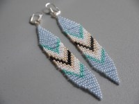 diy beaded tribal earrings  pumps & iron